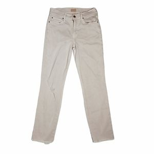 """MOTHER distressed skinny jeans in blush, 27"""""""